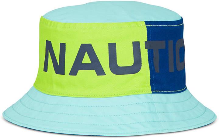 2f046c78898bf Nautica Men s Reversible Logo-Print Bucket Hat