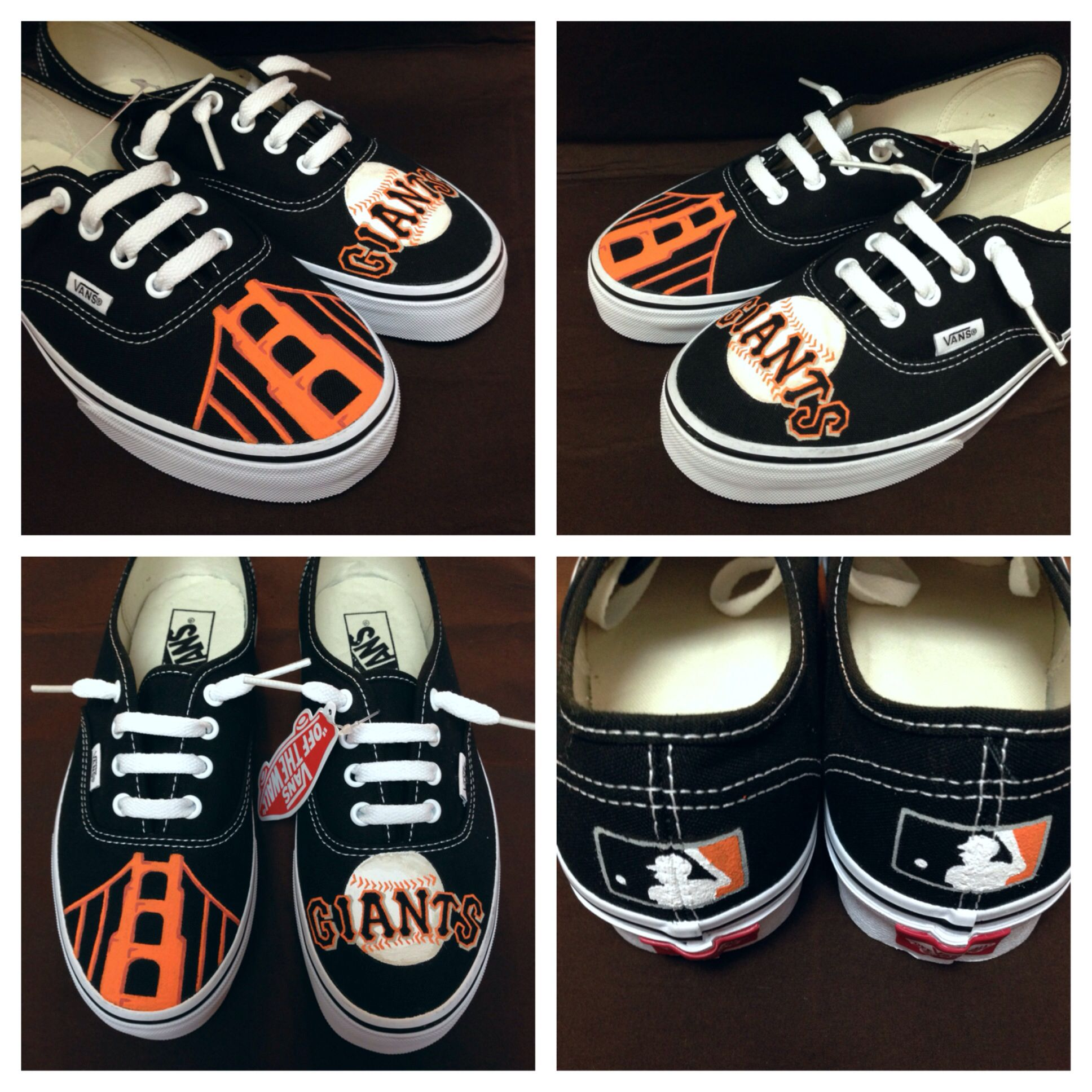 ee11e43df34186 Customized women s Authentic Vans in San Francisco Giants theme size ...