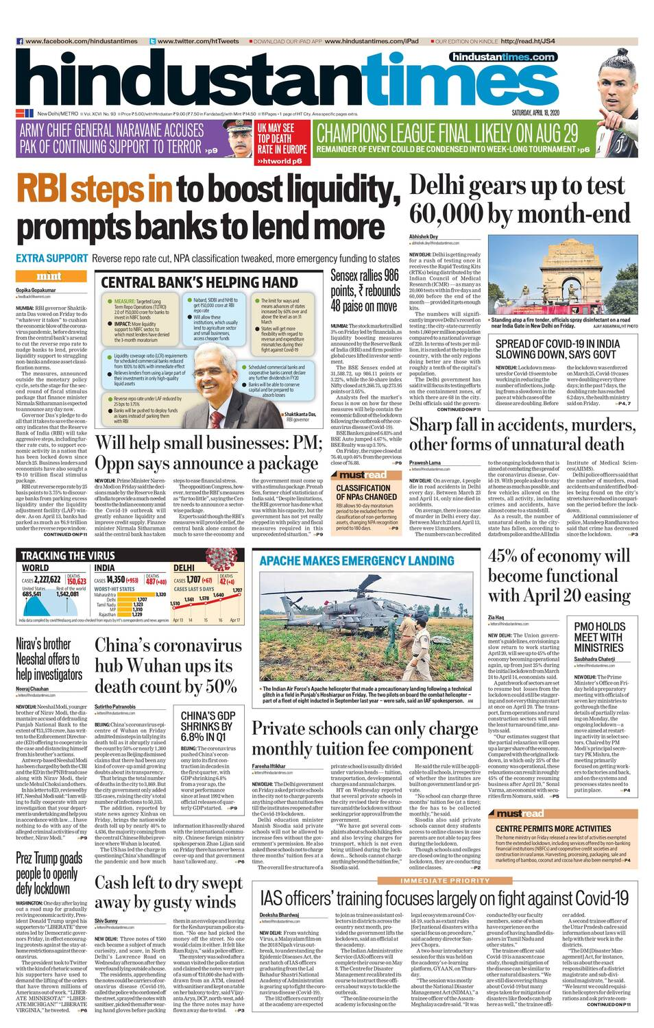 Hindustan Times ePaper, English News Paper, Today