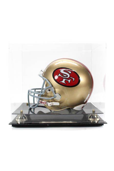 a697d9d8b Joe Montana San Francisco 49ers Autographed Full Size Helmet In Case (eBay  Link)