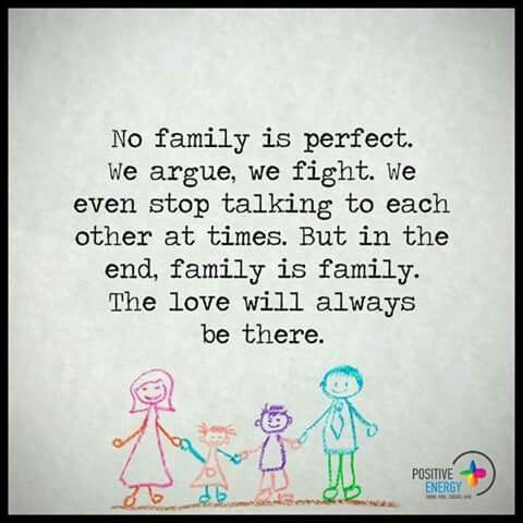 No Family Is Perfect Family Matters Inspirational Quotes