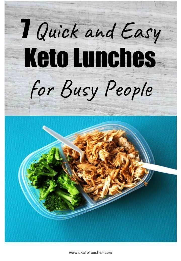 Easy Keto Lunches for Busy People - A Keto TeacherQuick and Easy Keto Lunches for Busy People - A K
