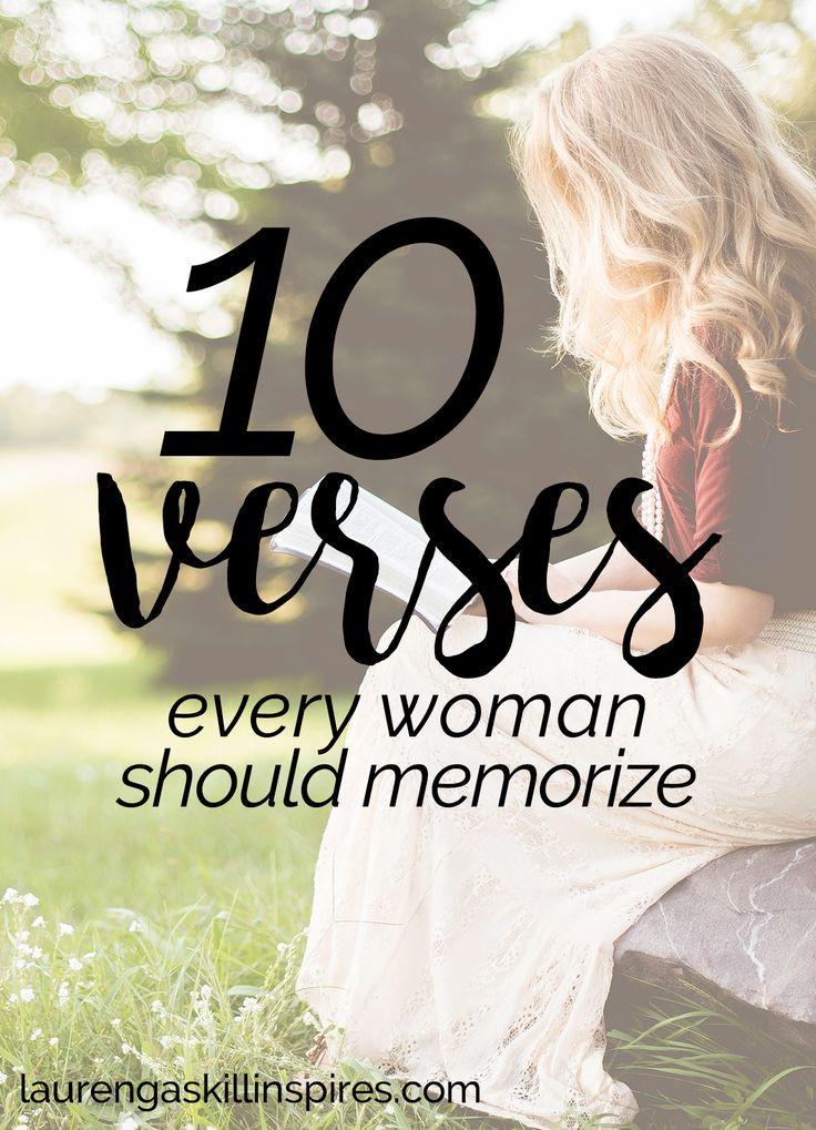 10 Bible Verses Every Woman Should Memorize | Soul: Faith