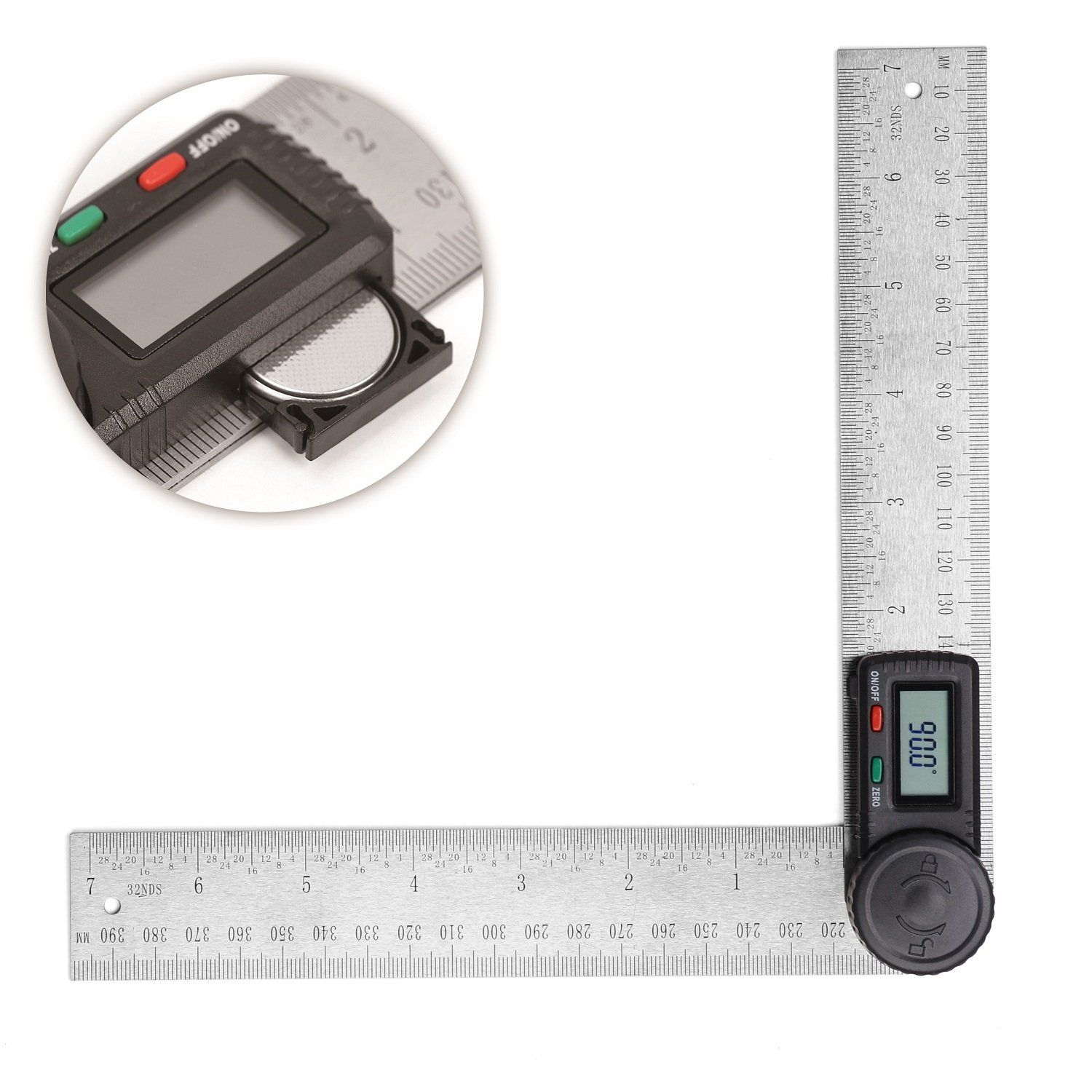 Horusdy Digital Angle Finder Ruler7 Inch Digital Protractor 200mm Stainless Steel Angle Gauge Best Unique Tool Gift For Men See This W Stainless Steel Angle