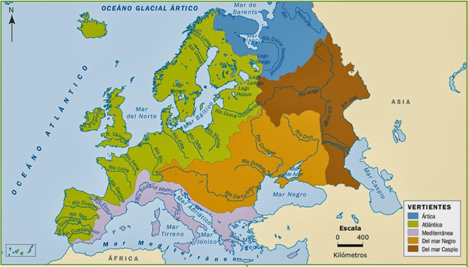 Mapa Hidrografico De España.Resultado De Imagen Para Mapa Hidrografico De Europa Para