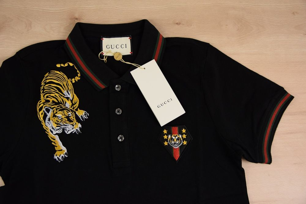 c89bb45c GUCCI FOR MEN BRAND NEW POLO T SHIRT SIZE XL COLOR BLACK GENUINE LOGO ON  TIGER #fashion #clothing #shoes #accessories #mensclothing #shirts (ebay  link)