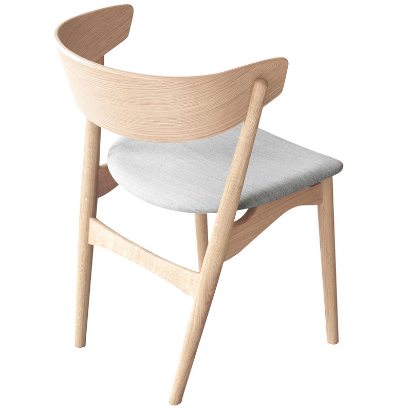 Sibast No 7 Chair Soaped Oak Grey Fabric In 2020 Upholstered Seating Scandinavian Chairs Scandinavian Dining Chairs