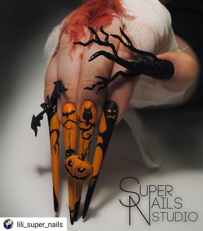 Top 10 Best Spooky Happy Halloween Nail Art Designs 2020 ...