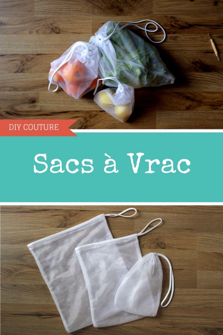 DIY Couture : Sacs «à vrac» réutilisables #couturezerodechet
