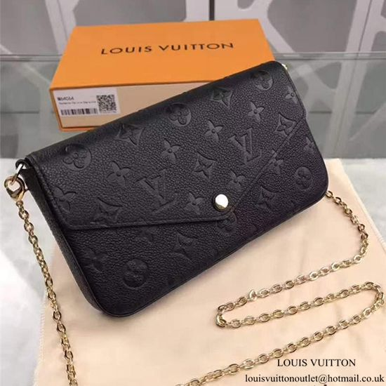 Louis Vuitton M64064 Pochette Felicie Chain Wallet Monogram Empreinte  Leather 350336bbe7b38