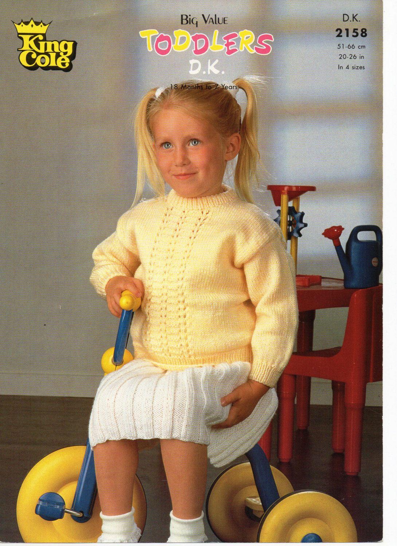 Baby / childs Sweater Skirt knitting pattern PDF girls jumper Skirt ...