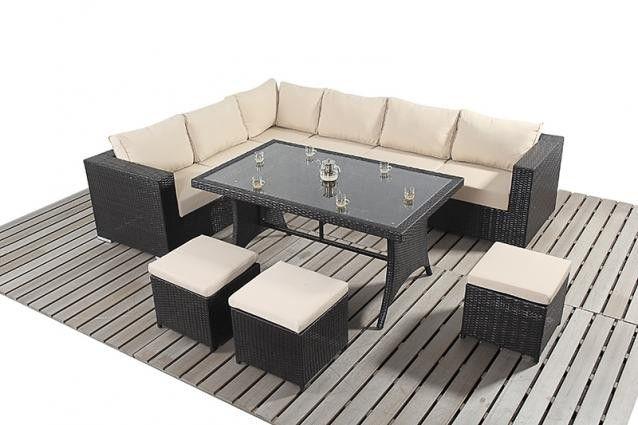 port royal luxe table corner sofa - Garden Furniture Corner Sofa