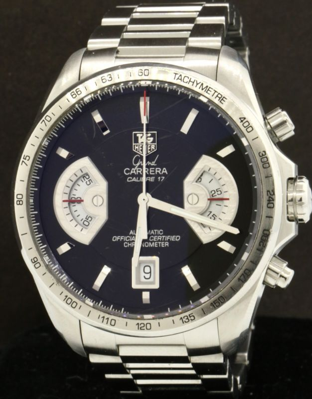 d16f3432aef TAG Heuer Grand Carrera Calibre 17 CAV511A SS automatic chronograph men's  watch