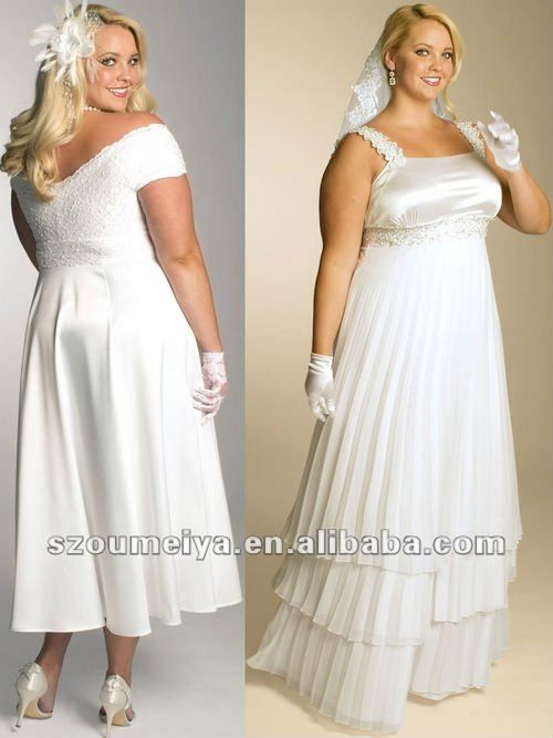 Plus Size Casual Wedding Dresses | ... casual empire waist tea ...