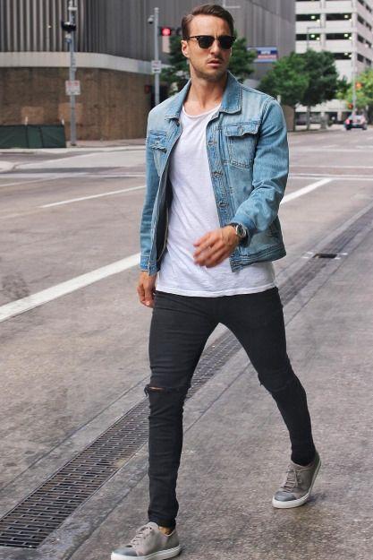 Casual City Style Classic Ish Mens Fashion Fashion Denim