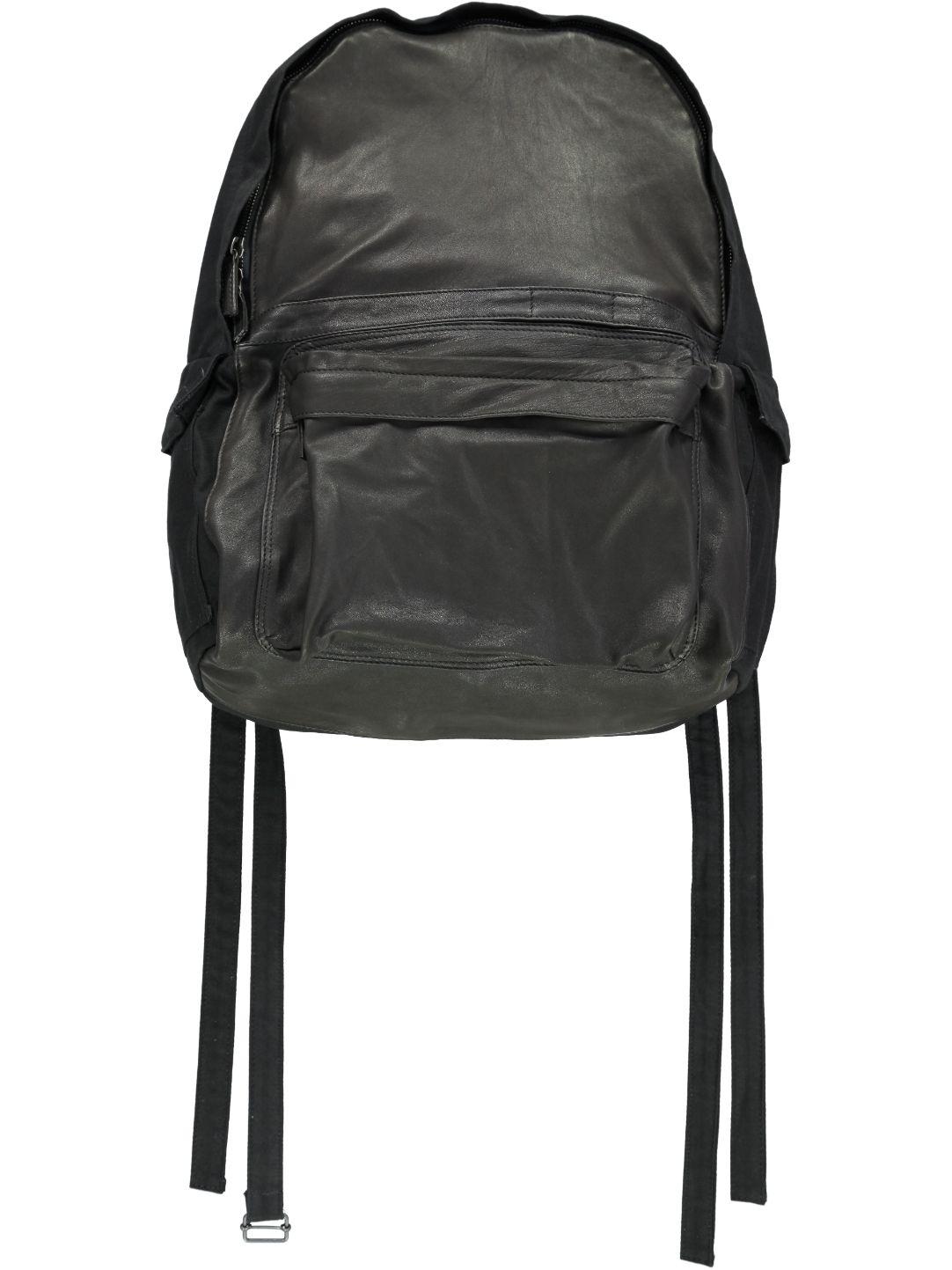Ann Demeulemeester Men's Leather Front Back Pack