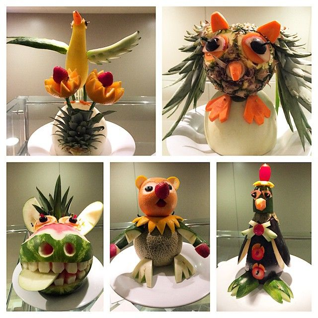 Fruit carvings on Norwegian Getaway. Repin if you love our creations! (Photo by: Instagram Fan, @idr3wi83)