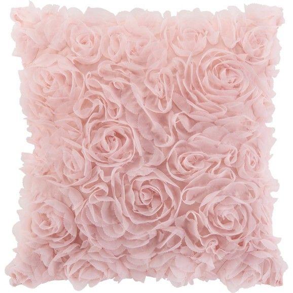 Romantisches Zierkissen im Rosen-Look - ein zauberhafter Hingucker