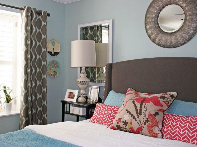 Graue Schlafzimmer Wandfarbe in 100 Beispielen Haus Deko Pinterest
