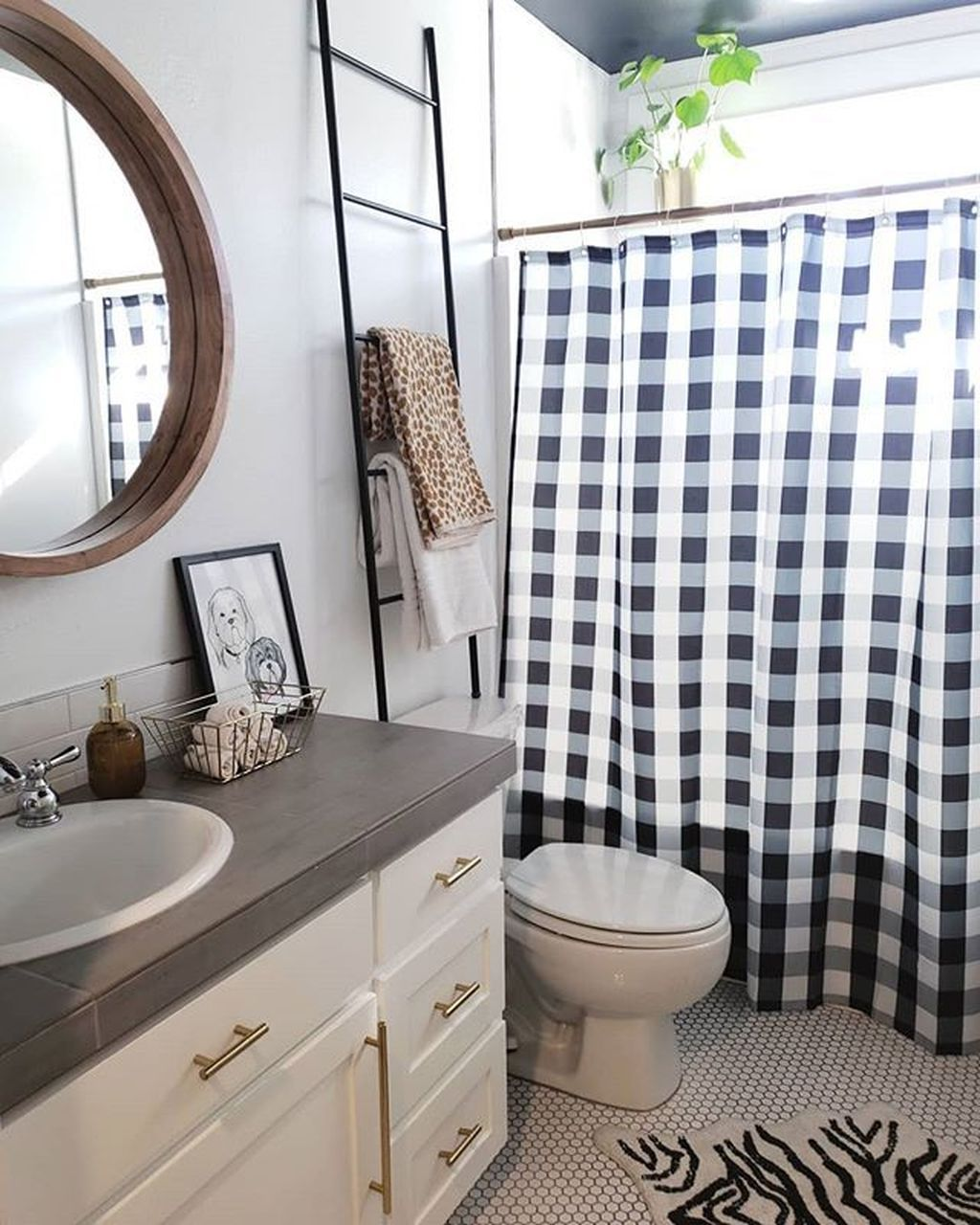 31 Amazing Black And White Shower Curtain For Your Bathroom Decor Homyhomee White Shower Curtain Black And White Shower Curtain Bathroom Decor Shower curtain black and white