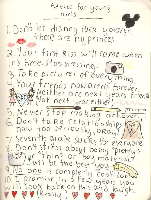 advice for young girls