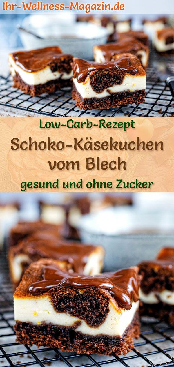 Low Carb Schoko-Käsekuchen vom Blech - Rezept ohne Zucker