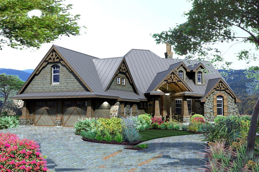 Plan #120-175 - Houseplans.com   Open home   Pinterest   Craftsman ...