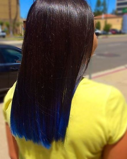 15 Blue Ombre Hairstyles For Women Askhairstyles Hair Dye Tips Blue Tips Hair Blue Ombre Hair