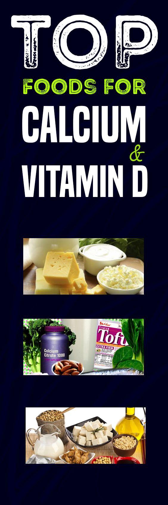 Top Foods for Calcium and Vitamin D Food, Calcium
