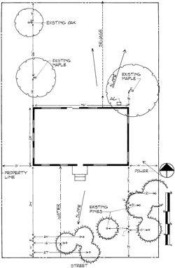 Landscape Design Series Drawing A Landscape Plan The Base Map Publications Landscape Plan Landscape Design Drawings Landscape Design