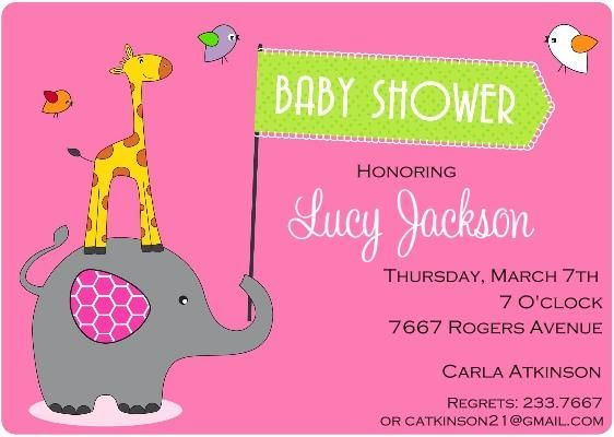 Elegant Custom Baby Shower Invitations