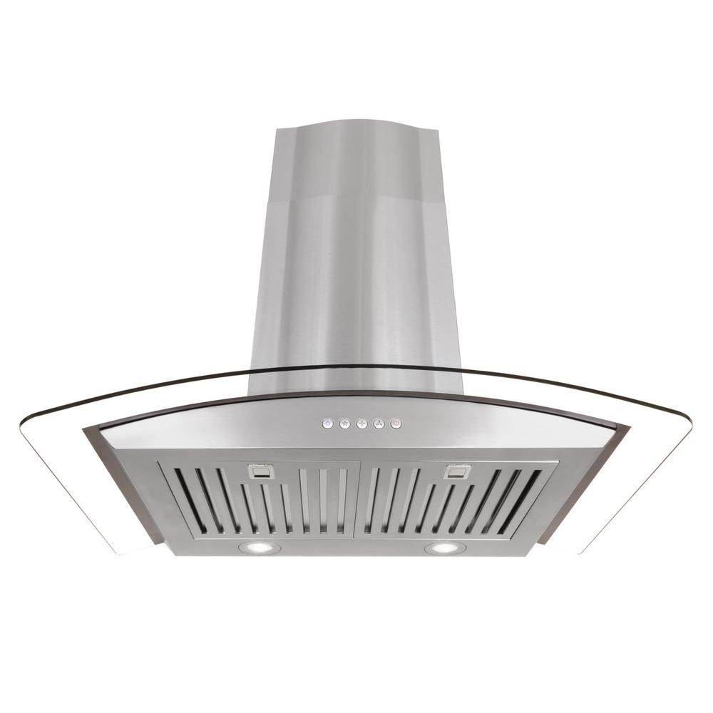 Cosmo 30 In Ducted Wall Mount Range Hood In Stainless Steel Silver With Touch Controls Led Lighting And Permane Wall Mount Range Hood Range Hood Steel Wall