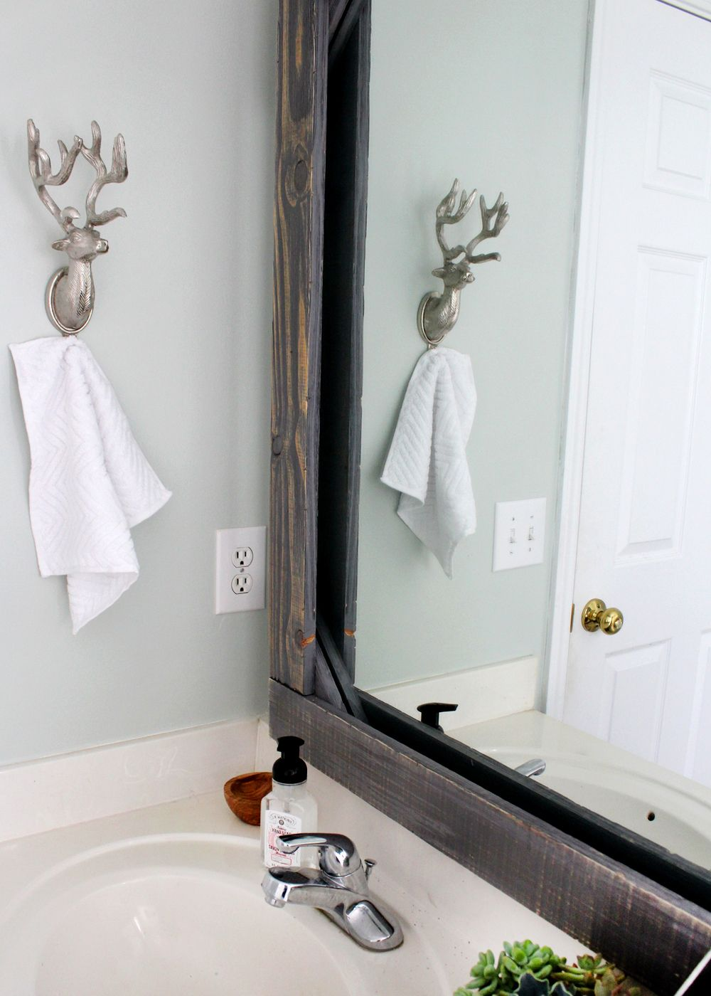 Diy Rustic Wood Mirror Frame  Bathroom Mirrors Rustic Wood And Woods Cool Designing Your Bathroom Design Ideas
