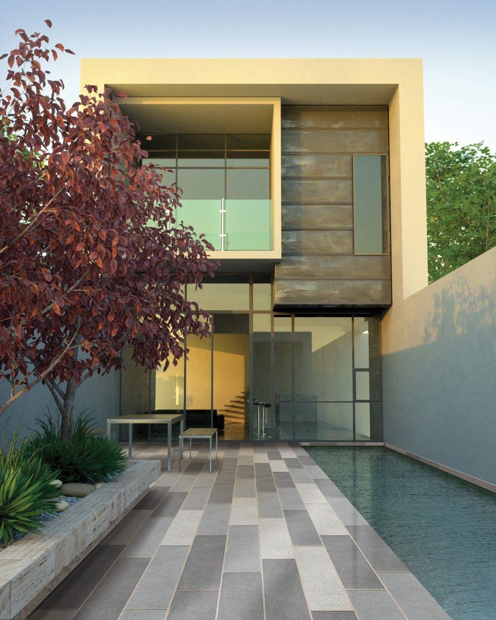 Bradstone Stonemaster Long Aspect Patio 35 Per M2 Granite Grey Look Stonemaster Is Now Going To Even Modern House Design House Design Photos Narrow Lot House