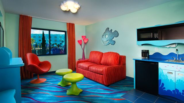 Art Of Animation Finding Nemo Family 1 Bedroom Suite A Double Sleeper Sofa Chair 2 Round
