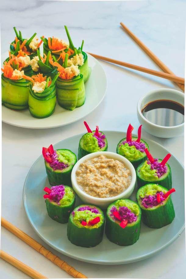 Raw Cucumber Sushi Dinner Recipes Vegan Recipes Vegan