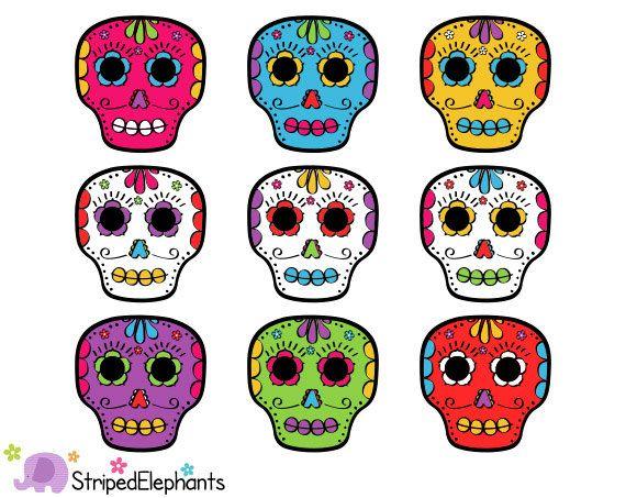 Day of the dead skulls clip art da de muertos clip art instant day of the dead skulls clip art da de muertos clip art instant download fandeluxe Images