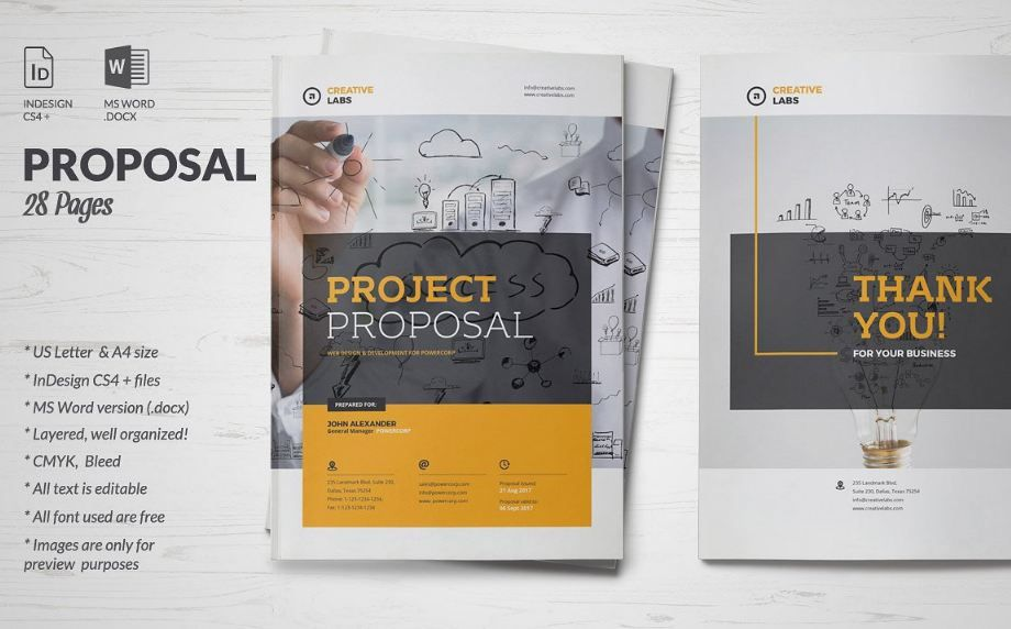 35 Business Proposal Template Word Docs Download Business