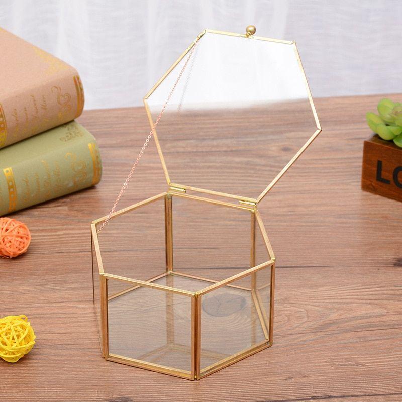 Pas cher Style nordique hexagonale en verre ouverte jardin ...