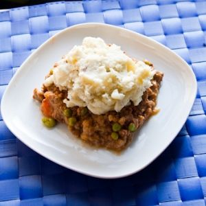 Crock Pot Shepherd's Pie: with mashed cauliflower instead of potatoes. Makes too much so divide ingredients in half.