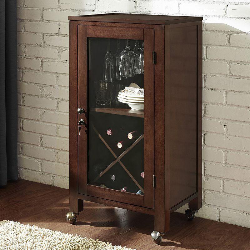 Crosley Furniture Jefferson Portable Bar, Brown