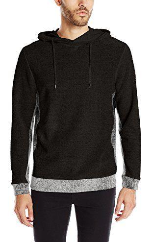 Calvin Klein Jeans Men's Terry Color Block Sweater, Black, Medium ❤ Calvin Klein Jeans Men's Collection