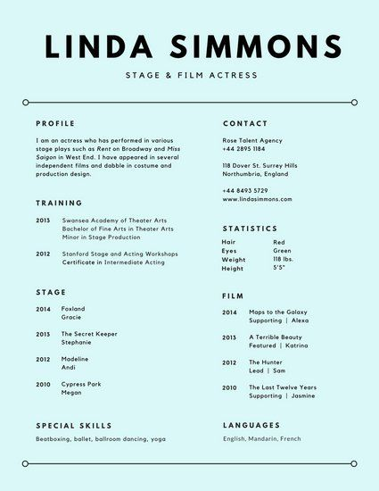 Simple Resumes That Work Inspiration Light Blue Text Minimalist Resume  Work  Pinterest  Simple Resume .