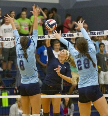 Volleyball College Park Sweeps Kingwood In 16 6a College Park Athletic Events Volleyball