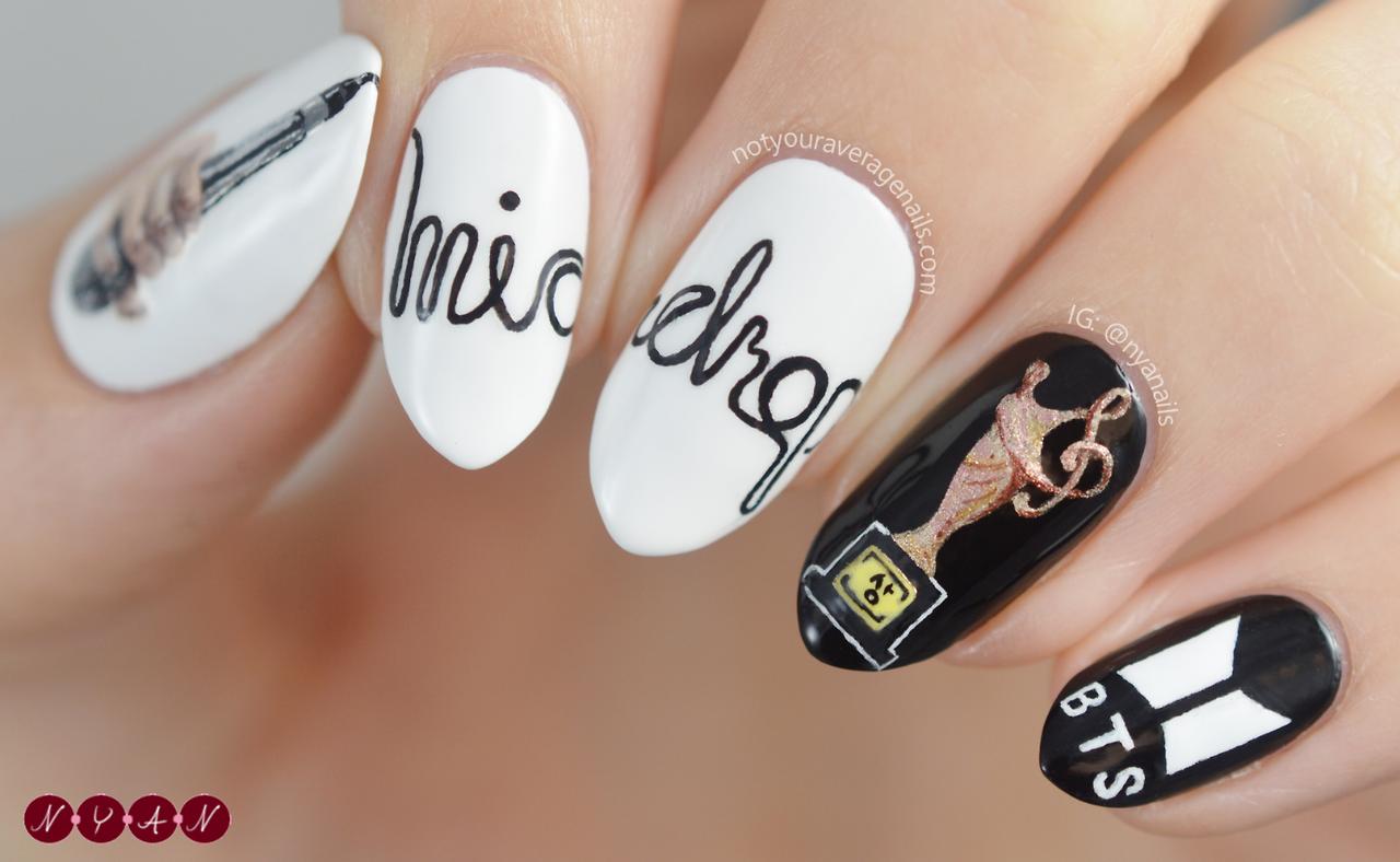 Bts Micdrop Nail Art Bts Pinterest Nagel