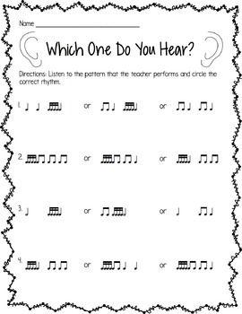 Free Sample Sixteenth Note Worksheets Teaching Music Free