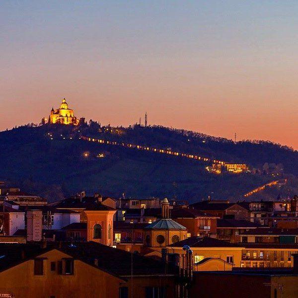 Bologna Italy at dusk! Madonna di San Luca