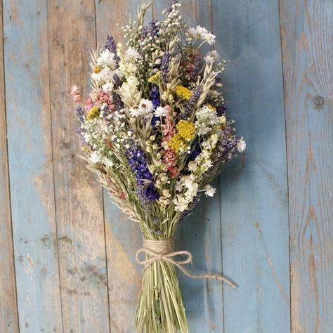 Festival Meadow Dried Flower Bouquet #flowerbouquetwedding