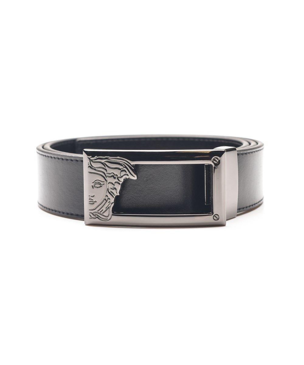 50b1065d VERSACE Versace Collection Men'S Medusa Steel Buckle Leather Belt ...