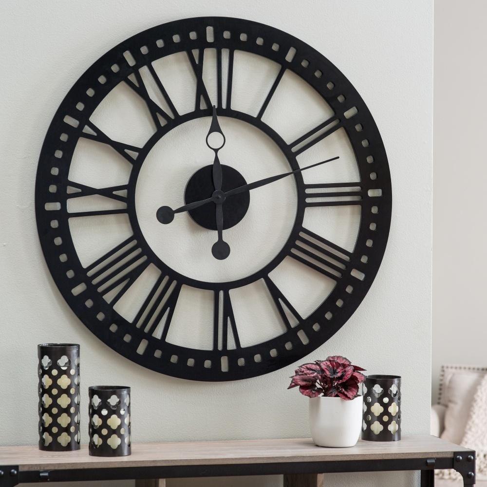 Hawthorne Oversized Tower 38 Inch Wall Clock Www Hayneedle Com Large Decor Big Clocks